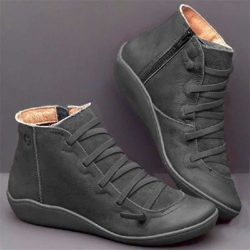 Women's PU Leather Activity Sport Shoes Women Autumn Winter Cross Activity Vintage Scarpe Donna Flat Ladies Shoes Woman Mujer