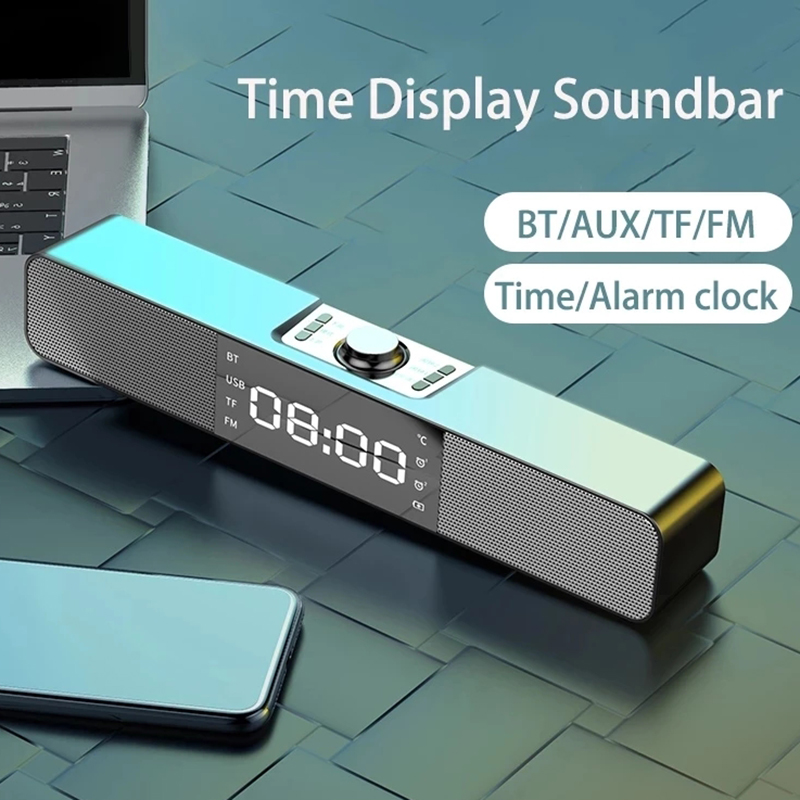 2021 חדש אופנה רמקולים קול בר Aux Usb Bluetooth רמקול קולנוע ביתי להקיף Soundbar Voor טלוויזיה מחשב רמקול סאב