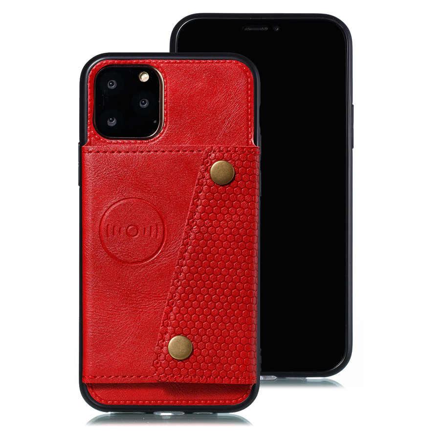 Card Case Voor Iphone Xr 11 Pro Max Coque Portemonnee Telefoon Case Voor Iphone Xs Max 11 8 7 6 6S Plus X Se 2020 Lederen Siliconen Cover