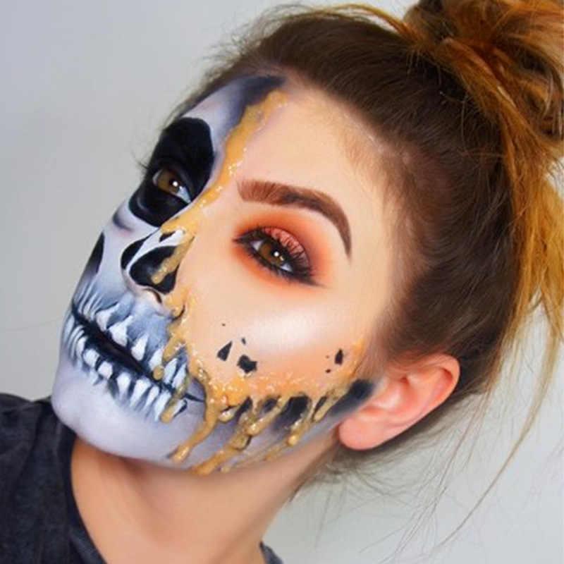 6 สี Body Face จานสีพร้อมแปรงแต่งหน้าฮาโลวีน Pigment คริสต์มาสน้ำเรืองแสง UV เด็กภาพวาด