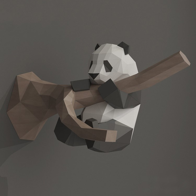 2020 nouveau Panda papier 3D bricolage matériel manuel créatif fête mascarade spectacle accessoires belle marée jouets décoratifs pour enfants cadeaux