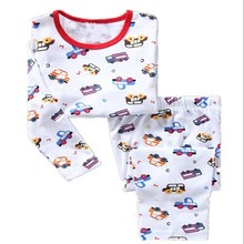 Boys Cars Pajamas Kids Girls Boys Sleepwear Children Cartoon Clothing Set Baby Long Sleeve Pajamas Home Clothing for Girls toddler kids pajamas long sleeve red set baby boys girls striped outfits christmas baby sleepwear set