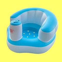 Baby Kid Kinderen Opblaasbare Badkamer Sofa Fauteuil Seat Leren Draagbare Multifunctionele