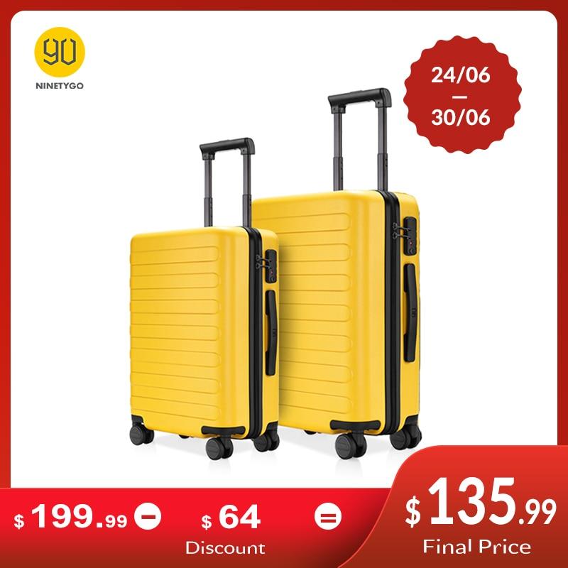 Suitcase Luggage Travel Ninetygo 90fun Spinner Hardshell Lightweight Carry Business 20-24inch-Set