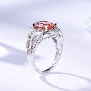 Image 3 - Kuololit Zultanite Edelstein Ringe für Frauen Solide 925 Sterling Silber Farbe Ändern Diaspore Handgemachte Braut Geschenke Edlen Schmuck
