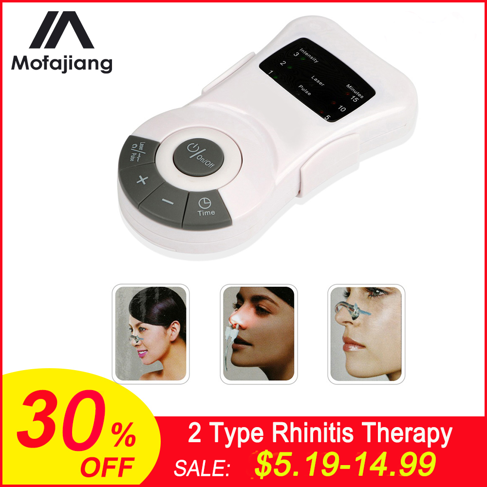 Nose Care Rhinitis Therapy Allergy Reliever Low Frequency Laser Nasal Congestion Sinusitis Snoring Treatment Device Massager