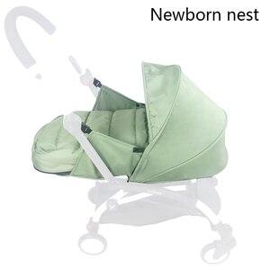 Image 3 - תינוק עגלת קן לידה יילוד עבור Babyzen yoyo + יויה Babytime עגלות סל עגלת אביזרי חורף שק שינה