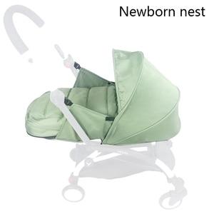 Image 3 - Wózek dziecięcy gniazdo urodzenia noworodek dla Babyzen yoyo + Yoya Babytime wózki koszyk akcesoria do wózka dziecinnego śpiwór zimowy
