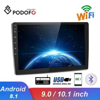 Podofo 9/10.1 2 din Android Car radio Multimedia Player 2 Din Universal GPS WIFI auto Stereo Audio For VW Nissan Hyundai Toyota image