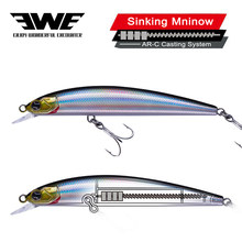 EWE S-95s/65s Slow Sinking Minnow Bait AR-C Jerkbait Wobblers Lures Fishing Artificial tackle For Trout Pike Bass Fish Wobbler