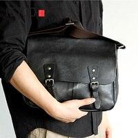 AETOO Men's leather one shoulder bag Japanese cowhide crossbody bag flip bag cover men's bag