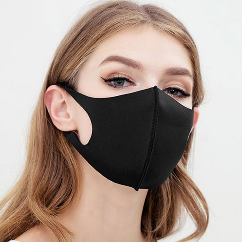 1-10pcs Unisex Dustproof Anti Sponge Mouth Mask Washable Dustproof Reusable Face Mask Adult Kids Mouth-Muffle Earloop Cover