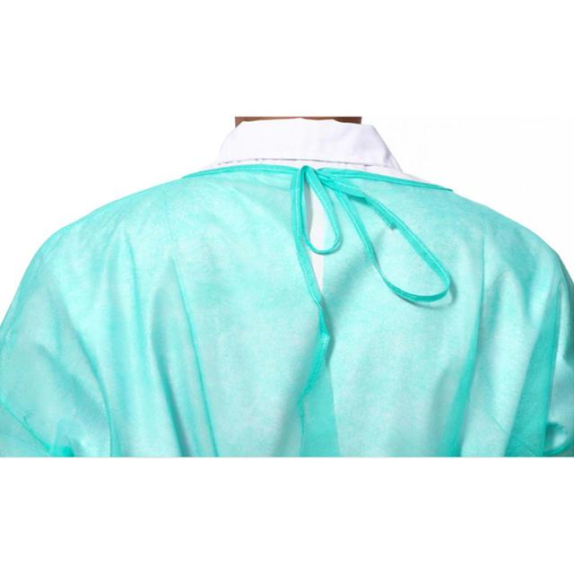 10pcs/lot Disposable Bandage Coveralls Gown Dust-proof Isolation Clothes Labour Suit Non-woven Security Protection Cloth 5