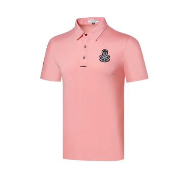 Wirujące 2020 nowy ubrania do gry w golfa zaznacz i LONA męska t-shirt do golfa wygodne oddychające sportowe t-shirt do golfa darmowa wysyłka tanie i dobre opinie SwirLing Poliester Akrylowe Krótki Anty-pilling Anti-shrink Szybkie suche Koszule Pasuje prawda na wymiar weź swój normalny rozmiar