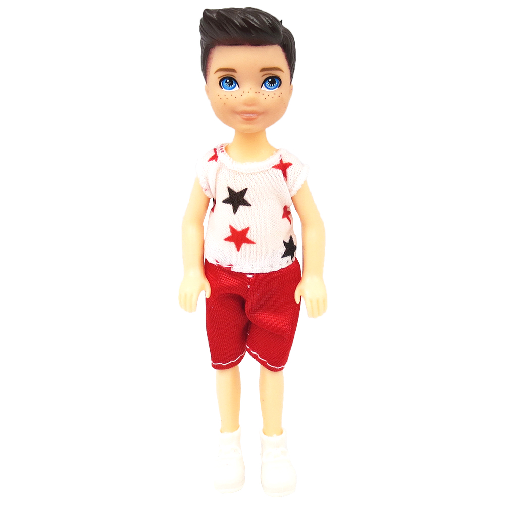 NK 1 Set Boy's Doll 5 Movable Jointed Mini Doll 14 Cm Cute Doll + Shoes+Outfit For Kelly Male Doll Girls Gift Baby Toys 10B 1X