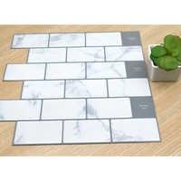 3D Wand U-bahn Ziegel Küche Fliesen Aufkleber 1PC Vinyl Home Decor Küche Self Adhesive Wallpaper Schälen und Stick Wasserdicht heißer