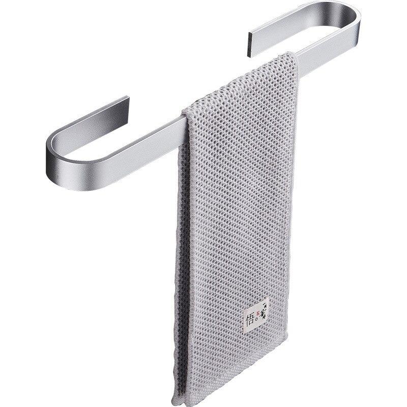 Полотенце держатель вешалка алюминий сплав полотенце вешалка стена навесное полотенце вешалка органайзер водонепроницаемый ванная кухня хранения вешалка полка