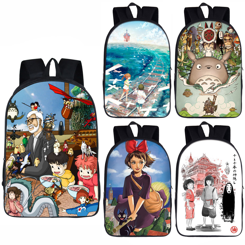 cartoon <font><b>Spirited</b></font> <font><b>Away</b></font> / Totoro <font><b>backpack</b></font> for teenager boys girls daypack children school bags kids bookbag gift image