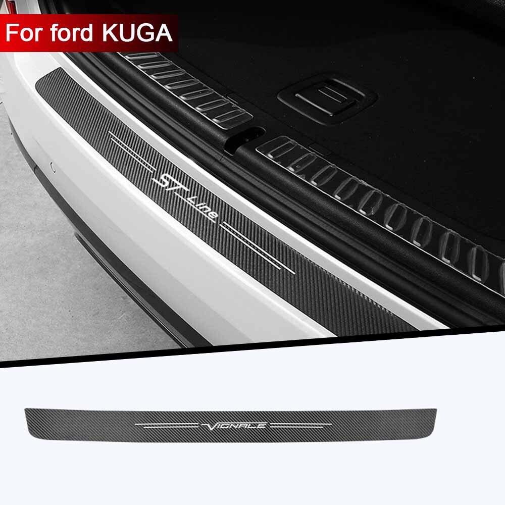 1pc tronco do carro decorativo adesivos de proteção para carros decoração modificação para ford vignale kuga st-linha acessórios estilo