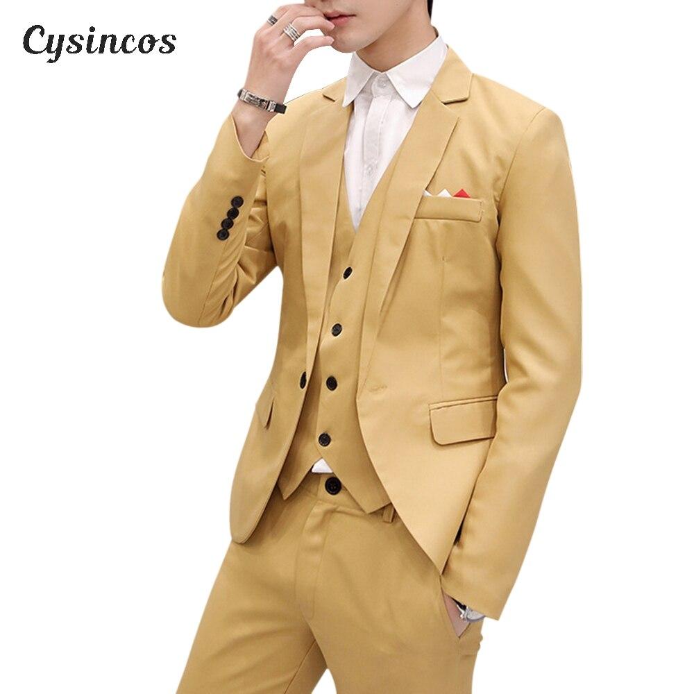 CYSINCOS 男性スリムフィット社会ブレザー春秋のファッションソリッドウェディングドレスコートカジュアルプラスサイズビジネス男性スーツのジャケット