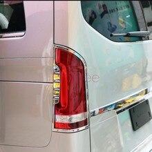 Para mercedes benz vito w447 2014 2015 2016 2017 cromo luz traseira painel capa guarnição acessórios do carro