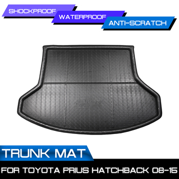 Car Floor Mat Carpet For Toyota Prius Hatchback 2008 2009 2010 2011-2015 Rear Trunk Anti-mud Cover image