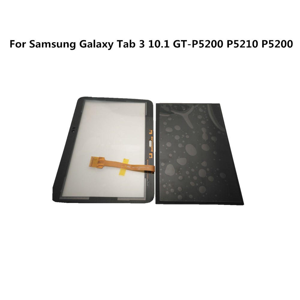 """100% Tested For Samsung Galaxy Tab 3 10.1""""GT P5200 P5210 P5200 LCD Display Screen+Touch Glass Screen Digitizer For P5200 Display Mobile Phone LCD Screens     - title="""