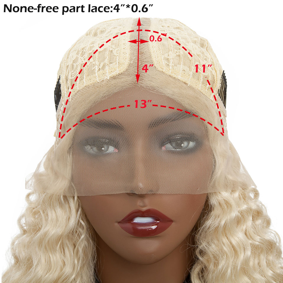 Image 2 - S noilite 14inch kinky Curly Blonde Lace Front Bob Wig Deep Part 4*0.6 Brazilian hair wig synthetic short bob wig lace front-in Synthetic Lace Wigs from Hair Extensions & Wigs