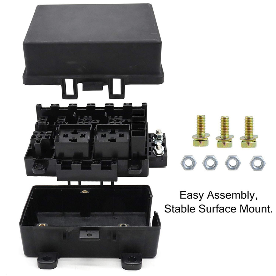 21 Way Blade Fuse Box Block Holder With Terminals Fit For Auto Car Marine  Boat   eBayeBay