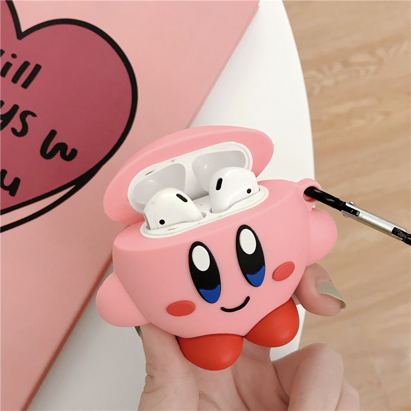 Image 3 - 3D Cute Cartoon Pink Ball Kirby Star Allies Headphone Cases For Apple Airpods 1/2 Silicone Protection Earphone Cover Accessories-in Earphone Accessories from Consumer Electronics