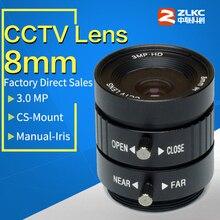 "3.0Mega Pixel,CS Mount 8mm Manual Iris Lens  Industrial Lens with 1/2"" format & FA / Machine Vision fixed focal length lenses"