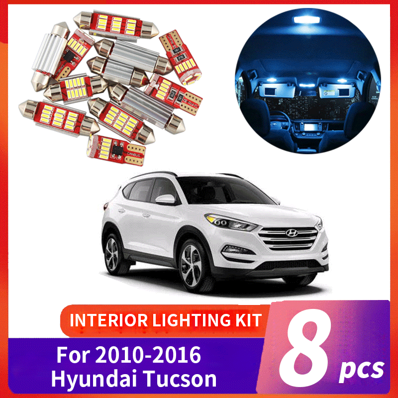 8x White LED Lights Interior Package Deal For 2010-2016 2017 2018 Subaru Outback