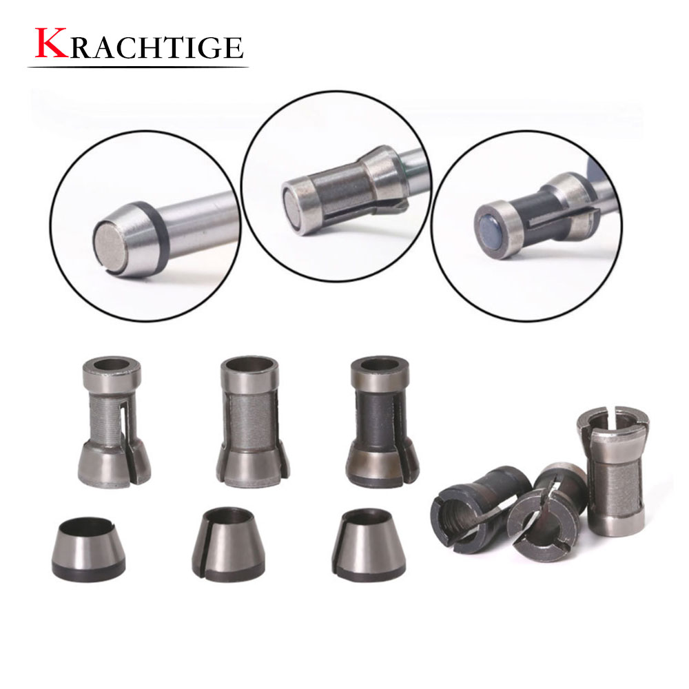 Krachtige 3PCS Set Collets Adapter 6.35mm 8mm 6mm Collet Chuck Engraving Trimming Machine