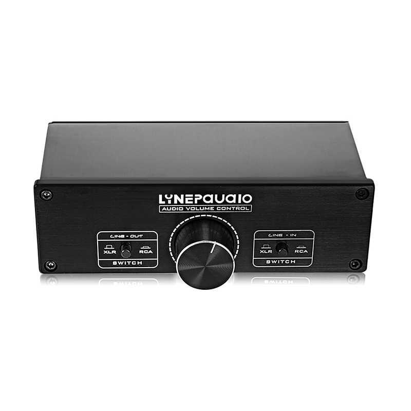 Lynepauaio 2 In 2 Out Switcher Volume Controller, Beralih Antara RCA Sinyal dan XLR Seimbang Sinyal yang Cocok untuk DE