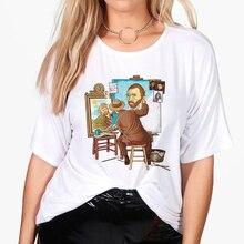 Women's Clothing Van Gogh T-Shirt Edgy Mexico Tops Summer Artsy Harajuku Fashion-Style