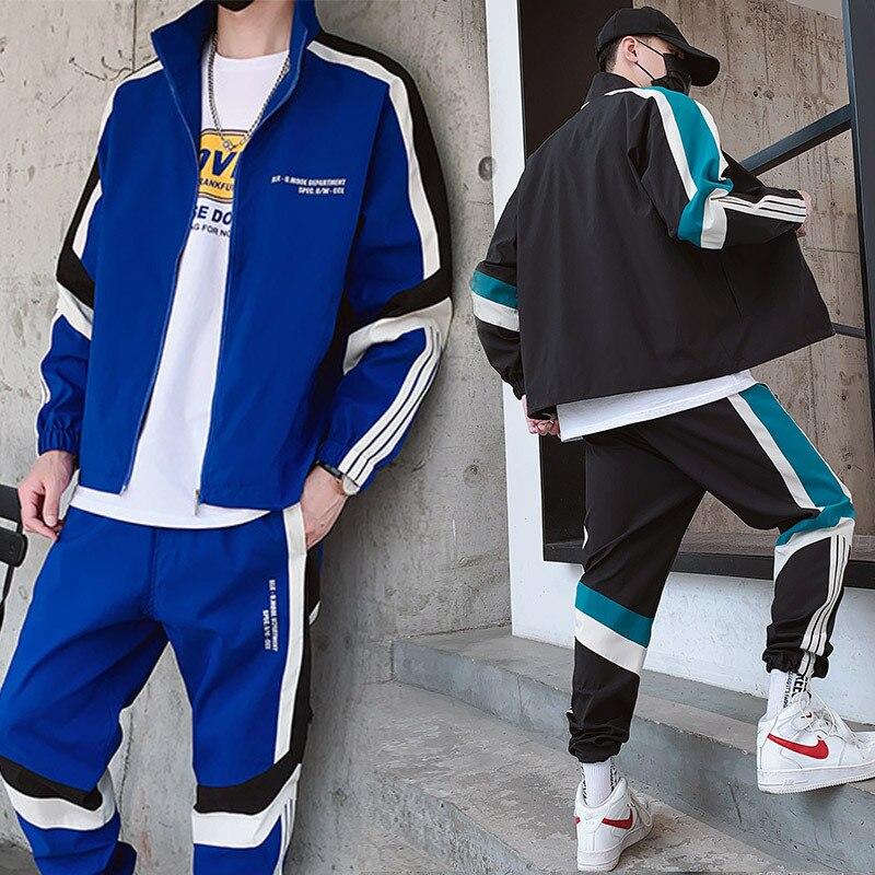 2019 Autumn New Style Men's Leisure Sports Suit Men's Clothes Jacket Athletic Pants