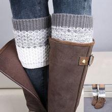 1 пара девушки женщин крючком трикотажные загрузки манжеты Ботворезы гетры колено загрузки рукава крышки зимние носки подарок