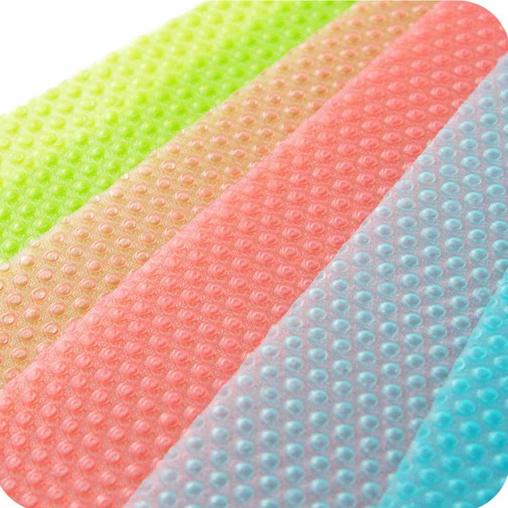 Almofada de borracha antibacteriana da mancha do óleo da prova da umidade da esteira do refrigerador fácil limpar a cor sólida da esteira plástica do armário da gaveta da esteira