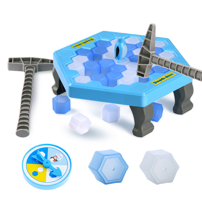 Funny Great Family Penguin Ice Breaking Save The Penguin Kid Toy Gifts Desktop Game Who Make The Penguin Fall Off Lose This Game