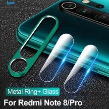 Защитное стекло для камеры для Xiaomi Redmi Note 8 7 K20 Pro, закаленное стекло и металлическое заднее защитное кольцо для Redmi Note 8, полный Чехол