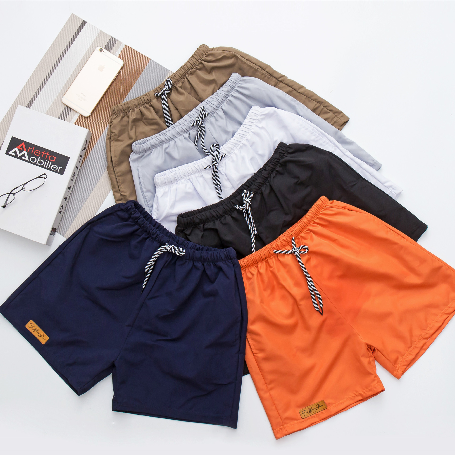 New Style Men Summer Couples 3 Pants Beach Shorts Candy-Colored Casual Pants Sports Shorts Hot Pants Fashion Man