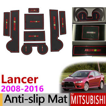 Anti-Slip Gate Slot Mat Rubber Cup Coaster for Mitsubishi Lancer 2008 - 2016 Ralliart EVO X Galant Fortis EX Accessories Sticker - DISCOUNT ITEM  50% OFF Automobiles & Motorcycles