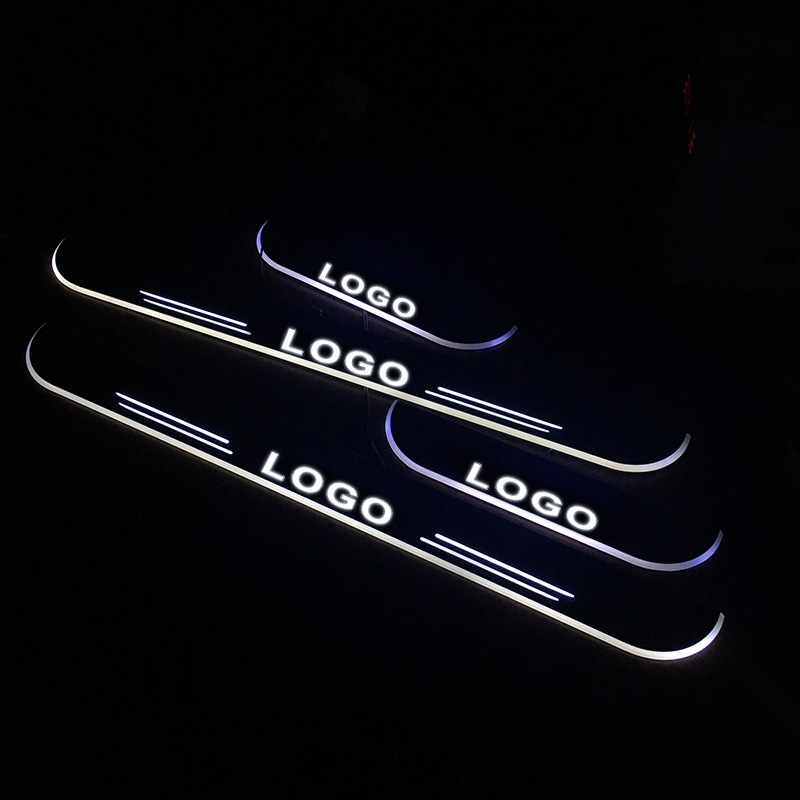 LED Door Sill For <font><b>Volkswagen</b></font> <font><b>GOLF</b></font> <font><b>5</b></font> V <font><b>Variant</b></font> 1K5 2007 2008 2009 Door Scuff Plate Pedal Threshold Welcome Light Car Accessories image