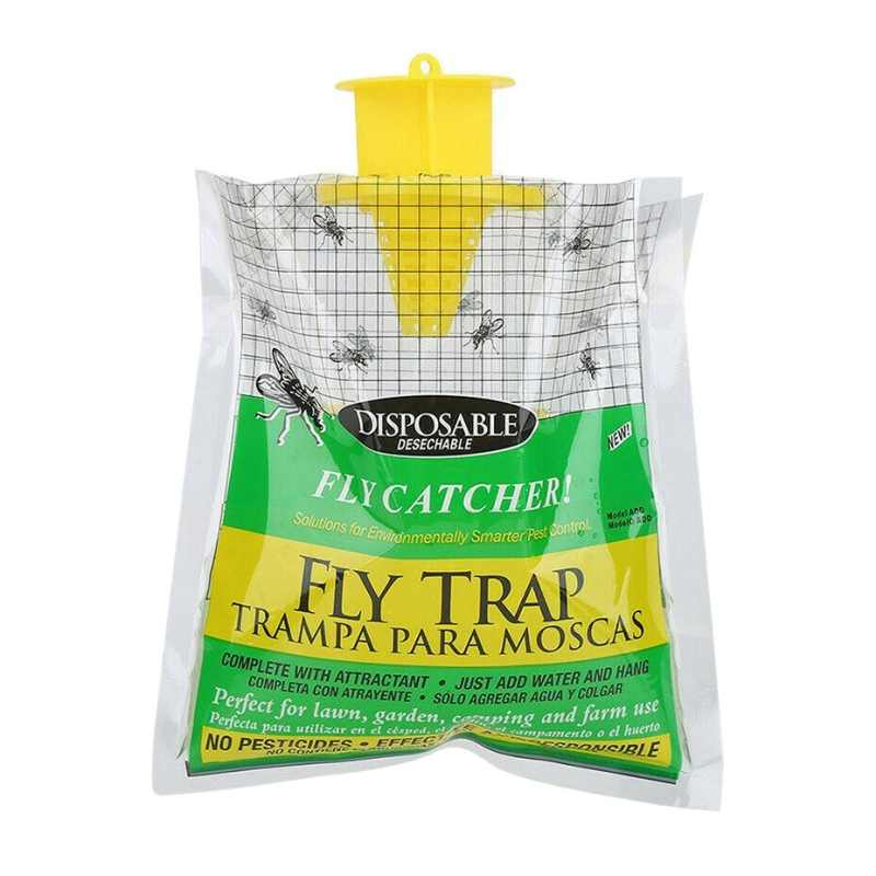 Flycatcher Bag Home Garden Outdoor Disposable Fly Catcher Control Trap Insecticide Flies Flycatcher Trap attractant