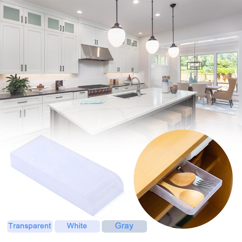 Table Storage Box Large Capacity Drawer Self Adhesive Table Bottom