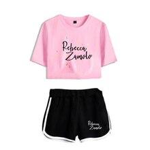 Shorts Outfit Tracksuits Crop-Top Women's-Sets Two-Piece Summer Merch Zamfam Zamolo Rebecca