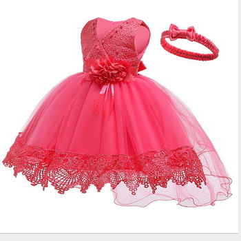 D0110Sequins Collar Dot Princess Baby Girl Dress 2020 Spring Party Wedding Easter Day Kid Dress For Girl Wholesale Child Clothes
