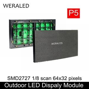 Module de mur vidéo LED polychrome extérieur de P5 SMD 320*160mm 64*32 Pixels P5 panneau LED extérieur unité de panneau de rvb(China)