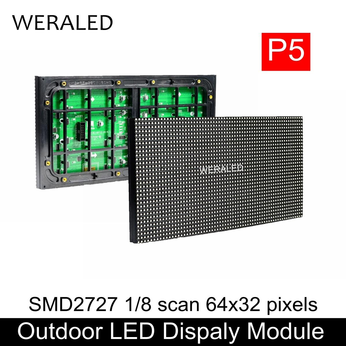 modulo video exterior 320 160mm da parede do diodo emissor de luz da cor p5 smd