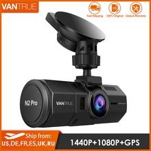 Vantrue N2 Pro samochód podwójny wideorejestrator HD 1080P dla wideorejestrator samochodowy wideorejestrator kamera samochodowa 1440P noktowizor GPS WDR tryb parkowania Dashcam